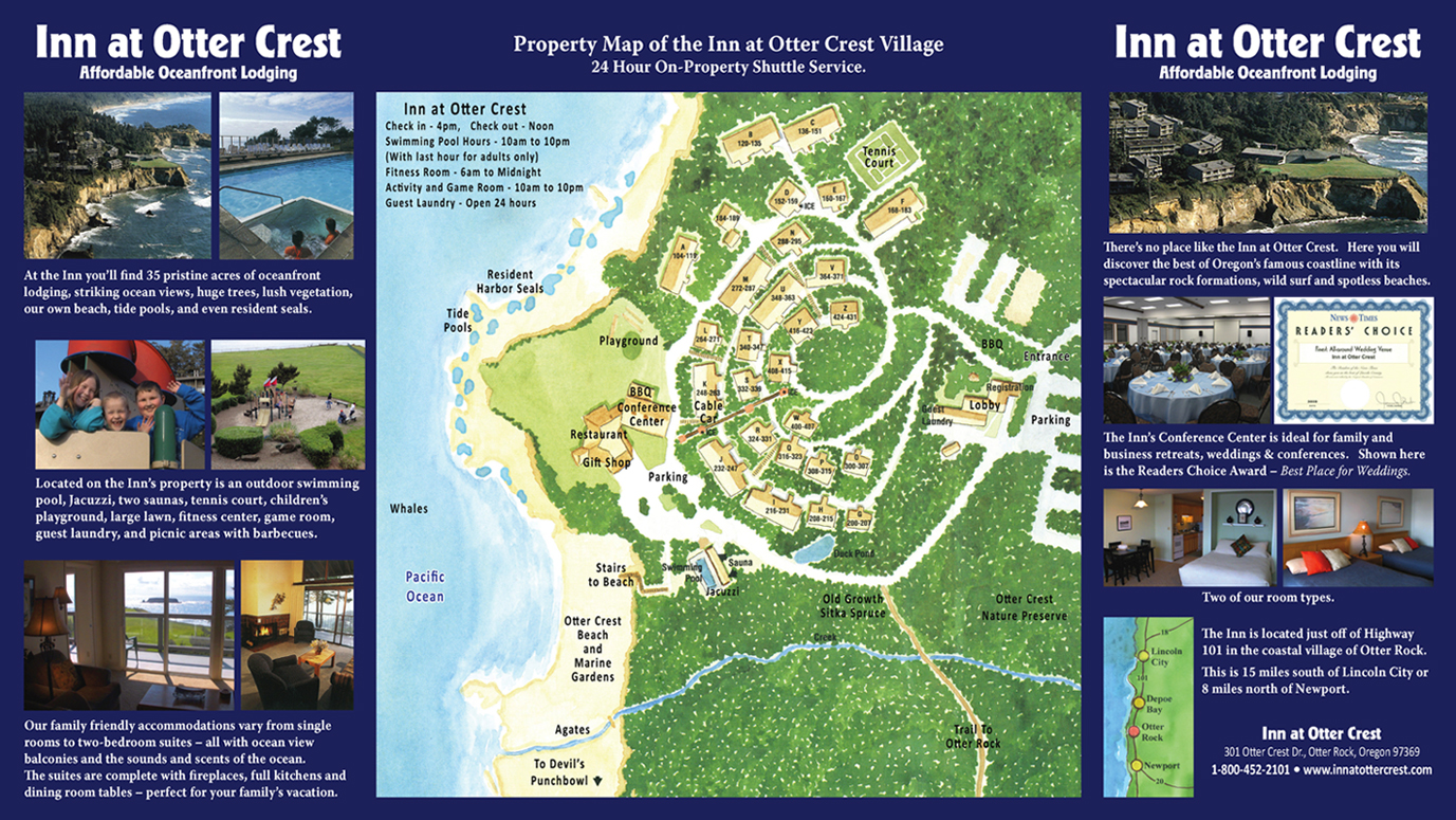 Inn at Otter Crest trifold brochure inside