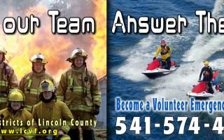 Lincoln County Volunteer Firefighters billboard