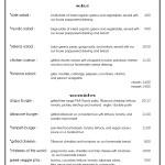 Cafe Mudo menu page 2