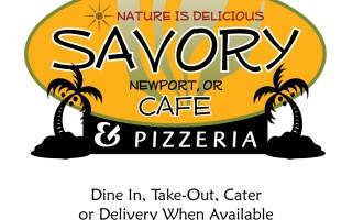 Savory Cafe Menu page 1