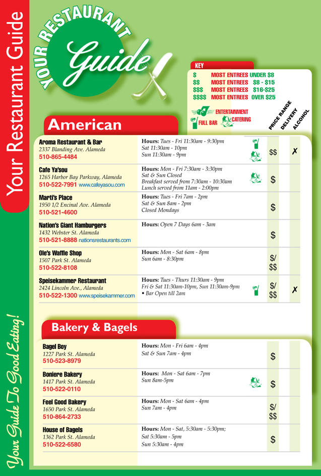 Alameda Restaurant Guide