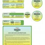 Cream Jar Labels