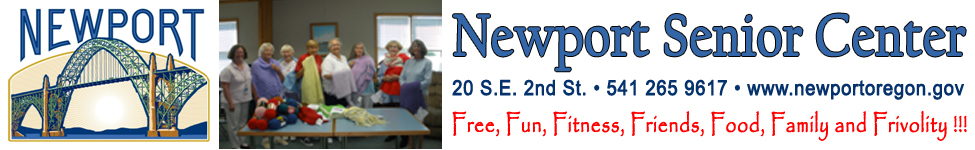 Newport Senior Center banner