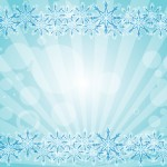Blue snowflake card